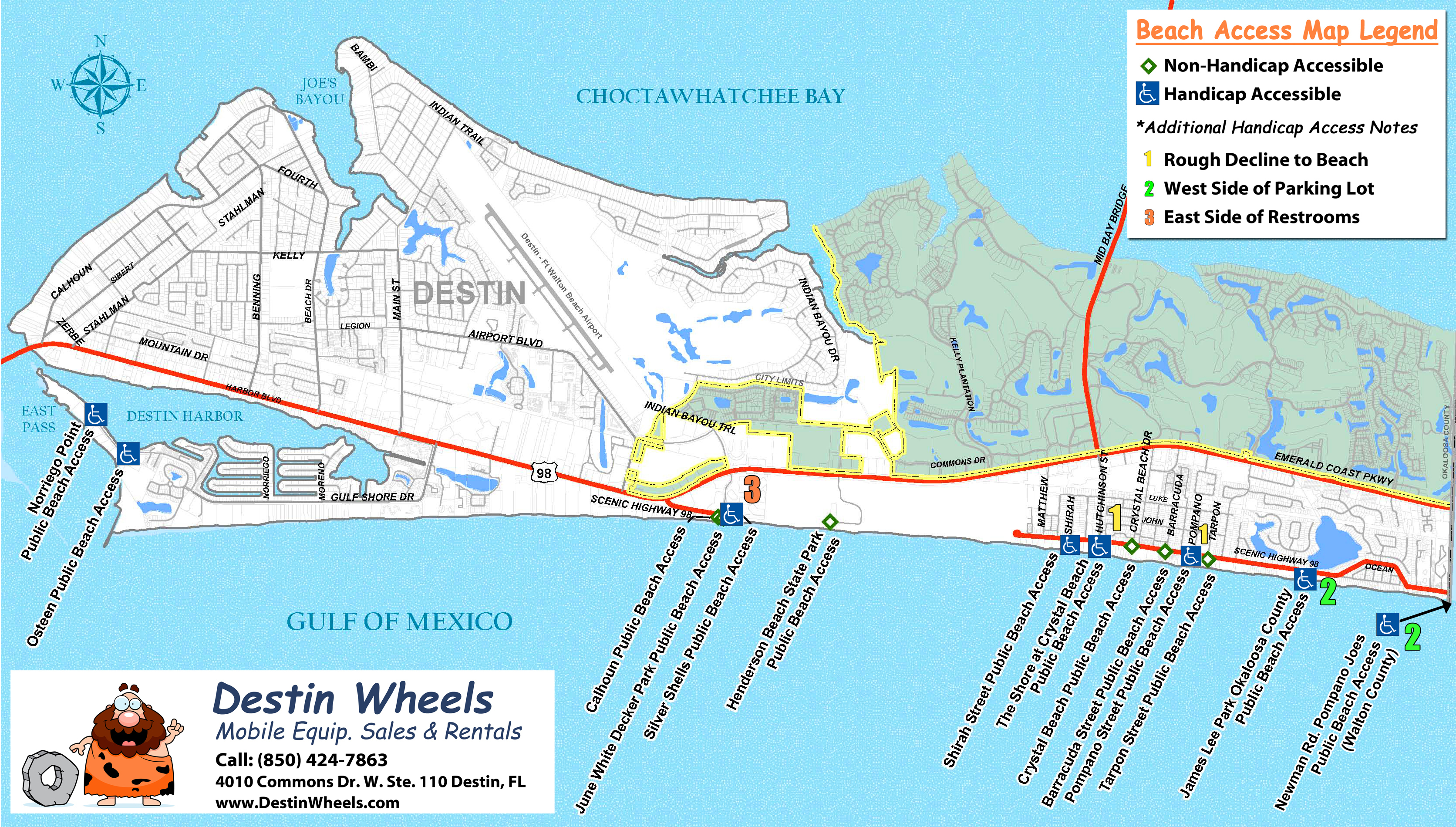 Destin Florida Map From Destinwheels 2 - Ameliabd - Where Is Seagrove Beach Florida On A Map
