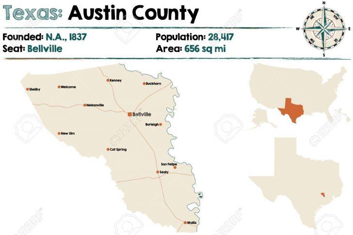Austin County Texas Map