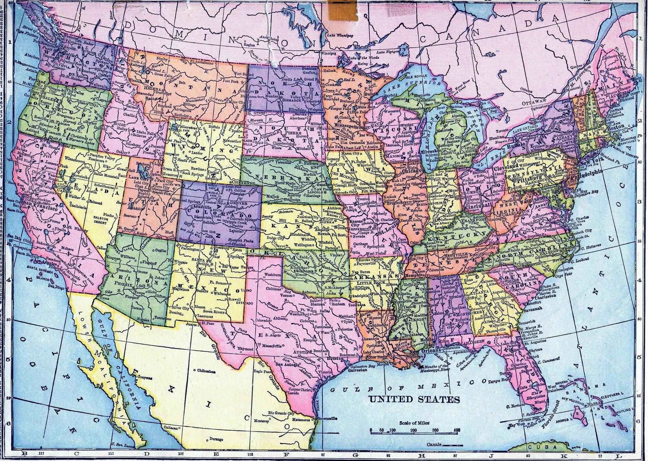 Detailed Map Of California Coast Printable Maps Driving Map Us East - Printable Driving Maps