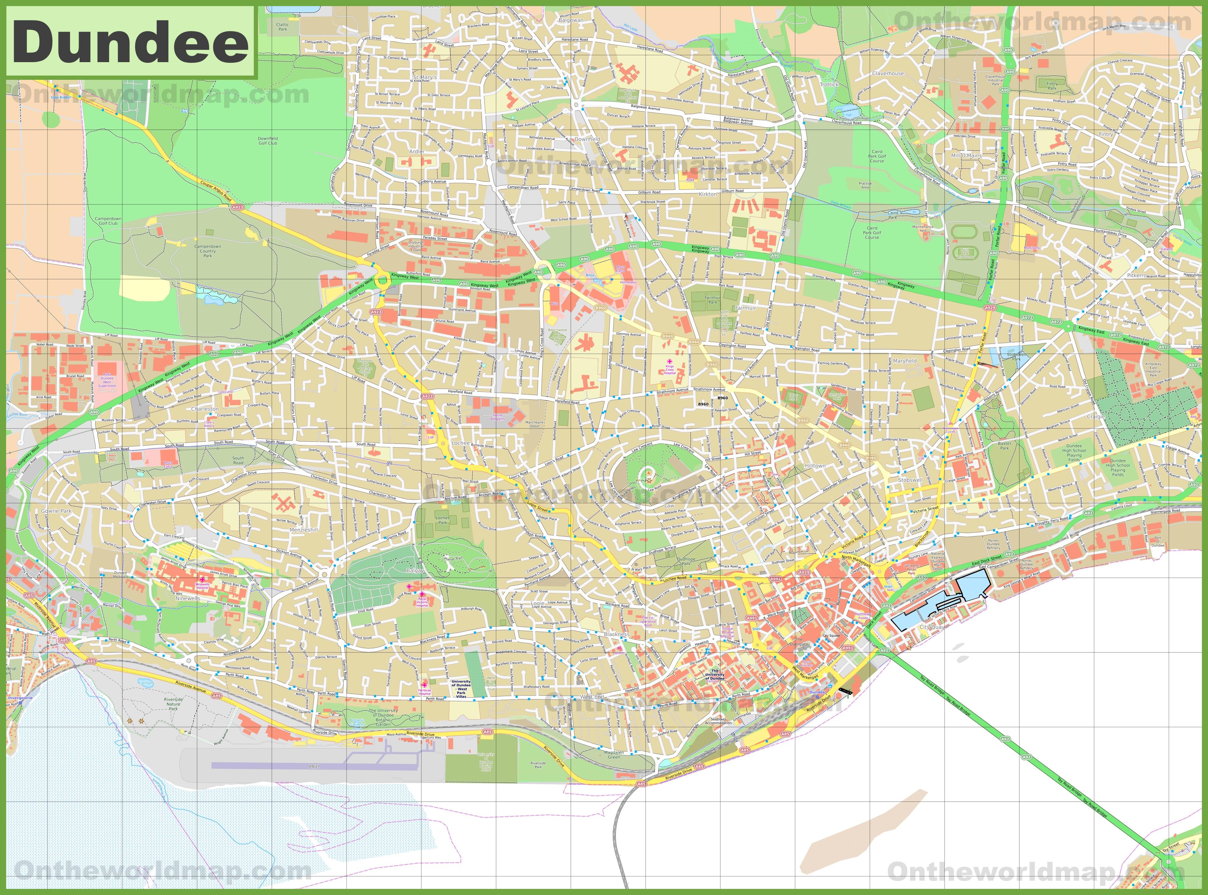 Detailed Map Of Dundee - Dundee Florida Map