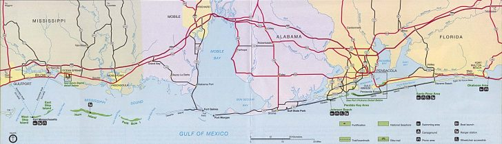 Printable Map Of Florida Gulf Coast