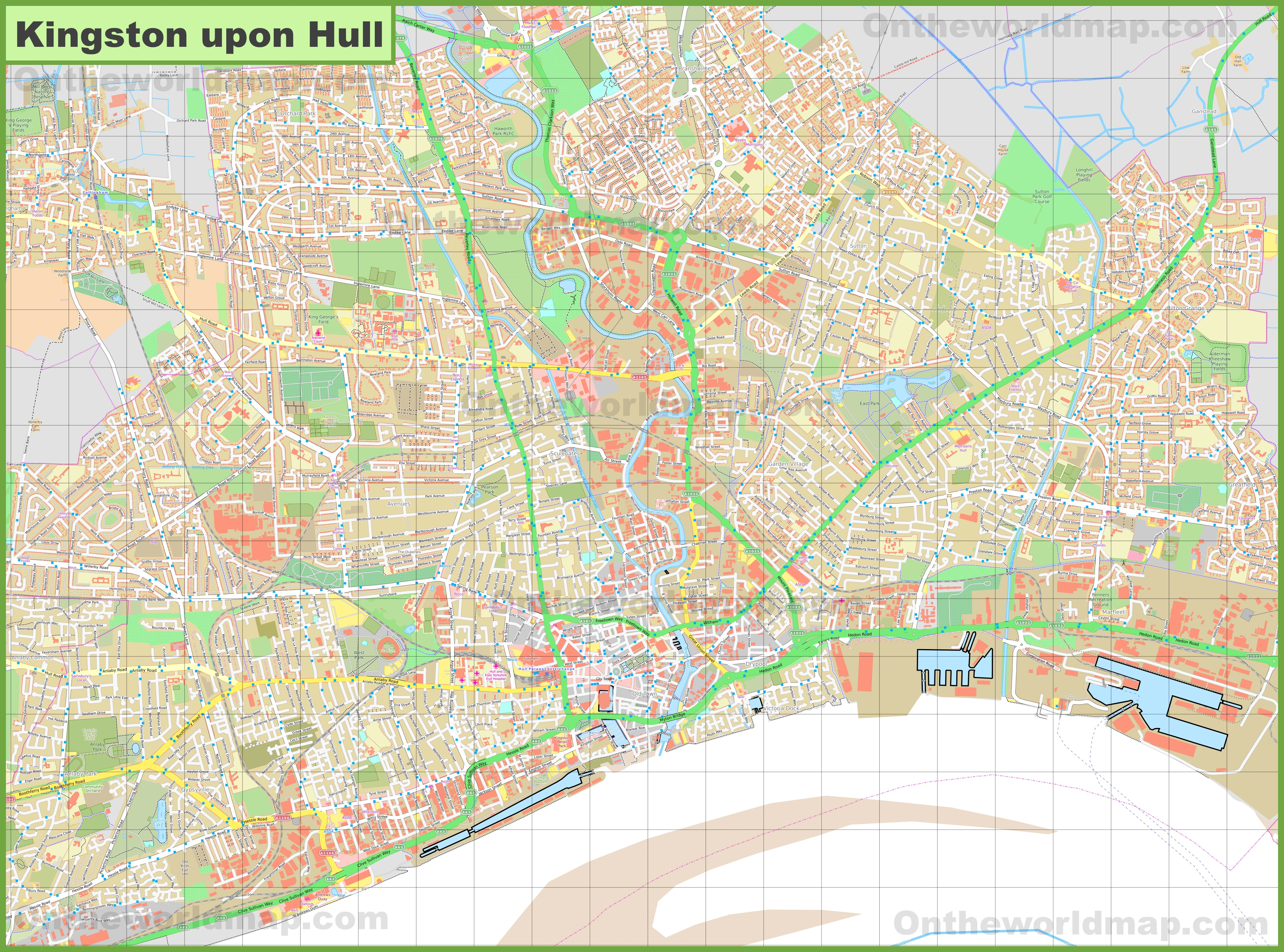 Detailed Map Of Hull - Hull Texas Map