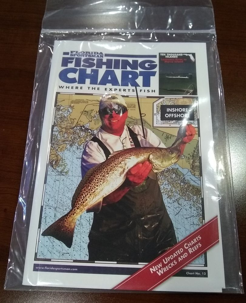Details About Florida Sportsman Fishing Chart No. 13 - Ten Thousand - Florida Sportsman Fishing Maps