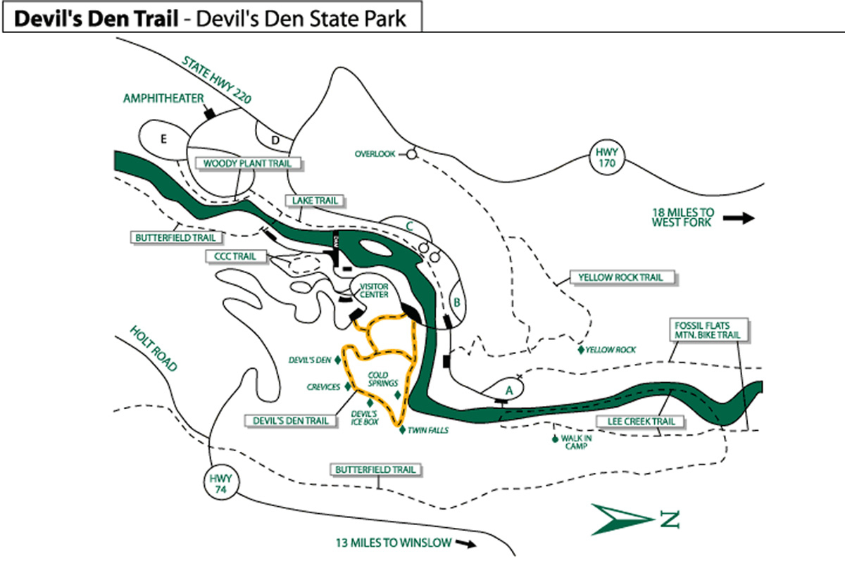 Devil's Den State Park Arkansas – Greg Disch Photography - Devil's Den Florida Map