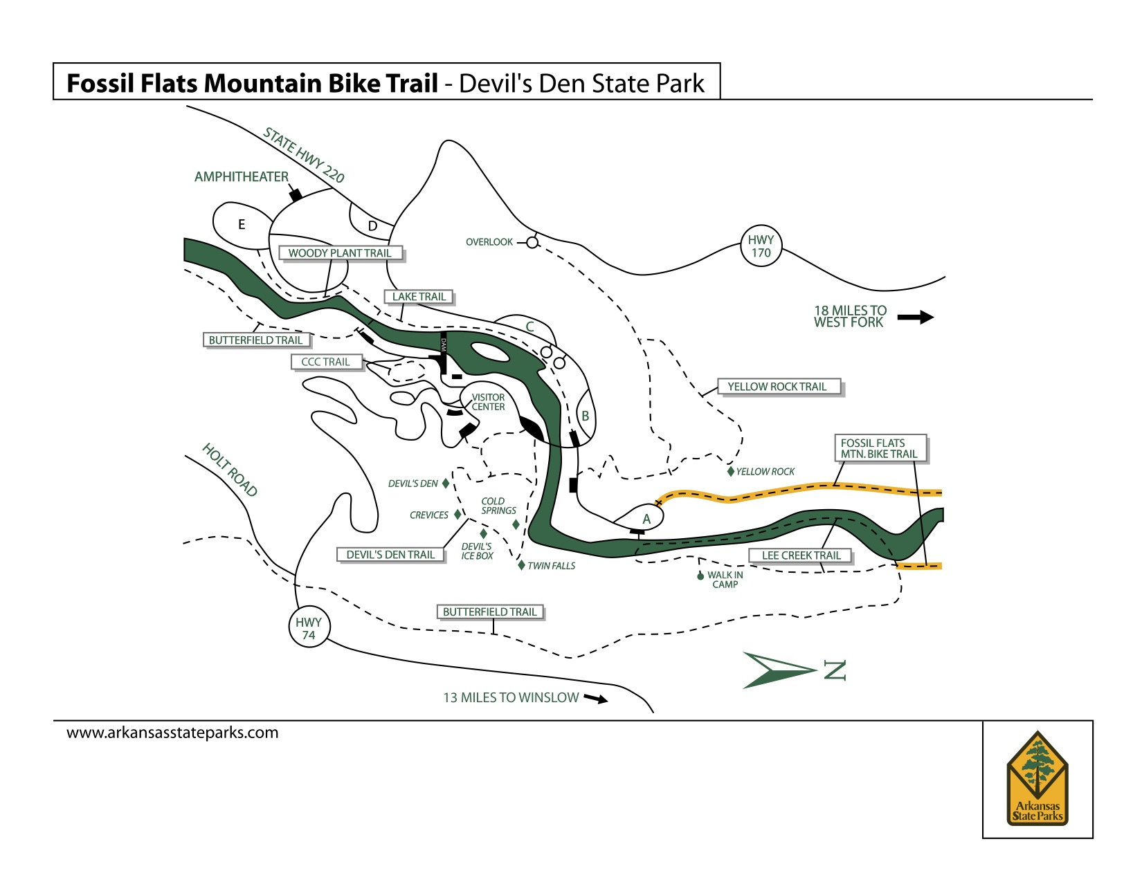 Devil's Den State Park | Nwa Trails - Devil's Den Florida Map