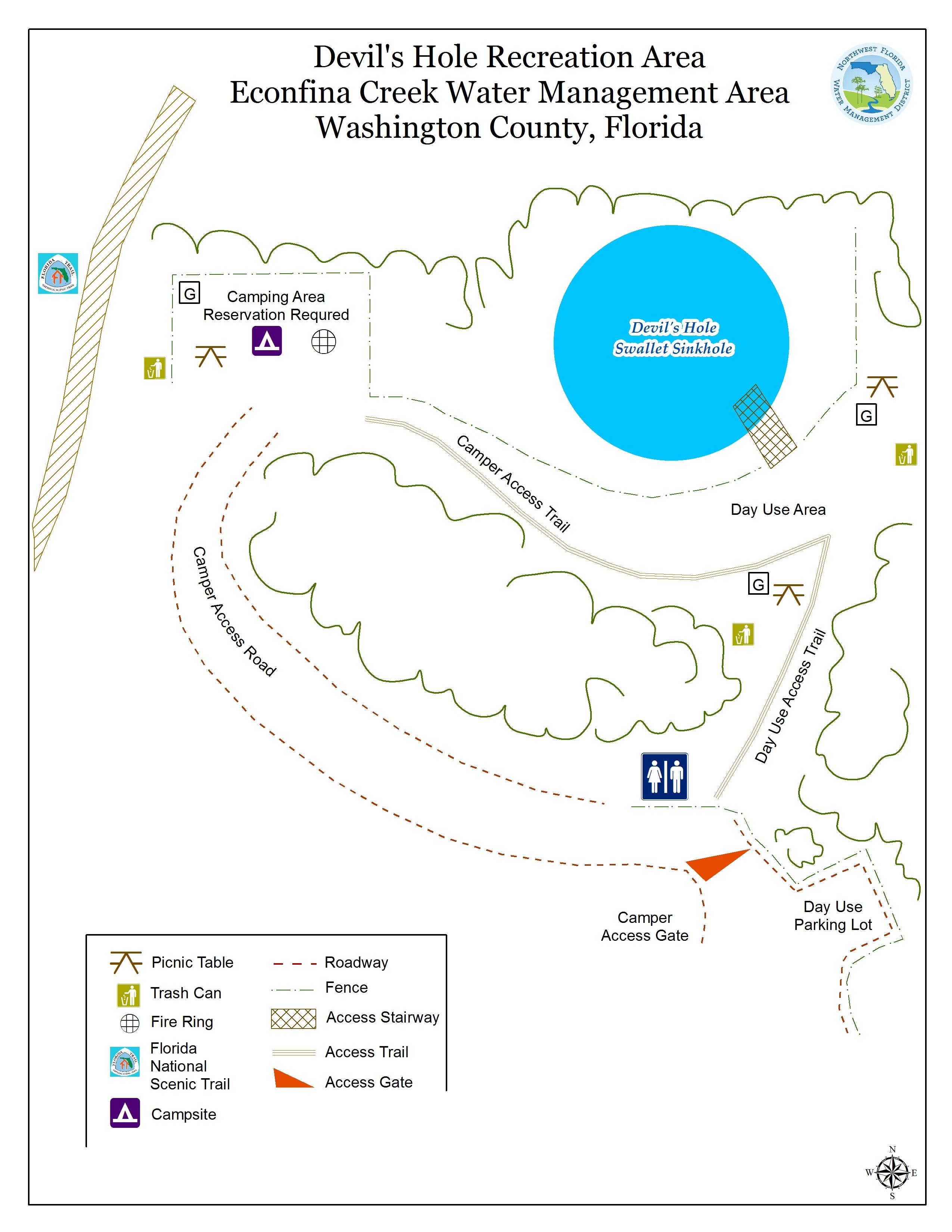 Devil's Hole | Northwest Florida Water Management District - Devil's Den Florida Map