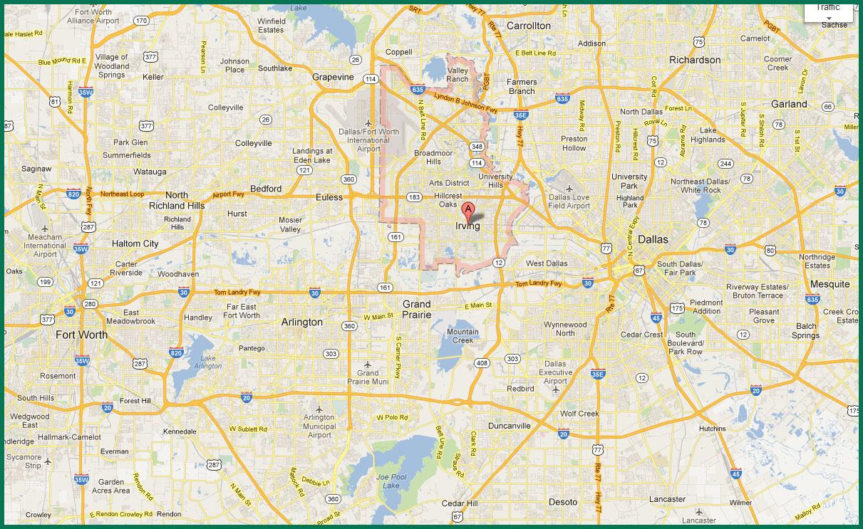Dfw Area Map - Map Of Dfw Area (Texas - Usa) - Printable Map Of Fort Worth Texas
