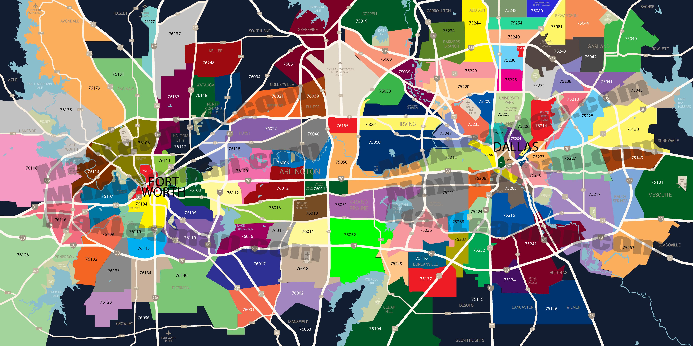 Dfw Zip Code Map   Mortgage Resources - Printable Map Of Dfw Metroplex