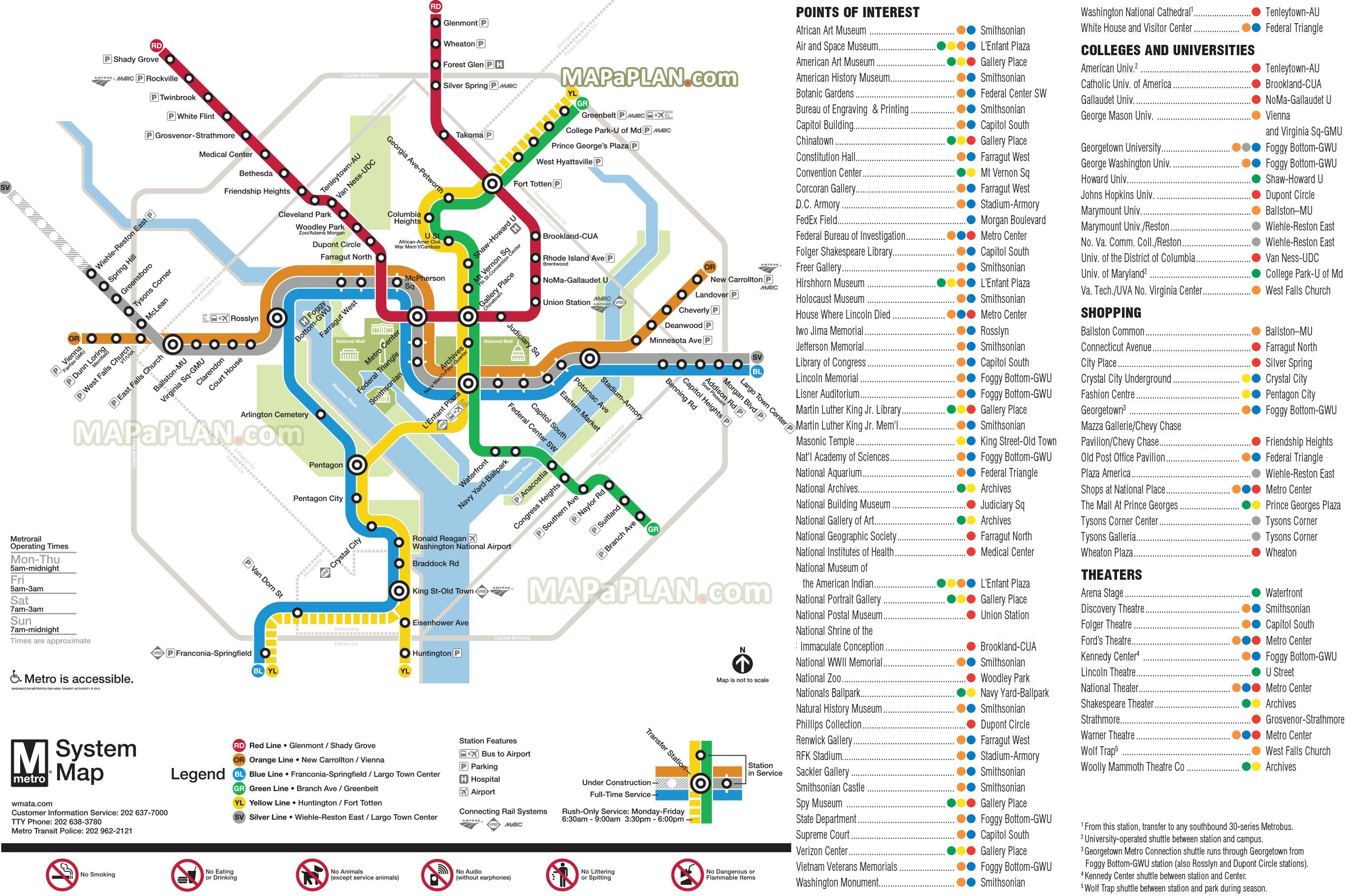 Diagram Of Washington Dc | Wiring Diagram - Printable Washington Dc Metro Map