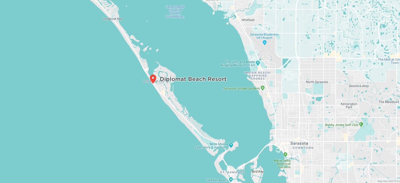 Diplomat Resort Longboat Key Florida | Vacation Condo Resort - Longboat Key Florida Map