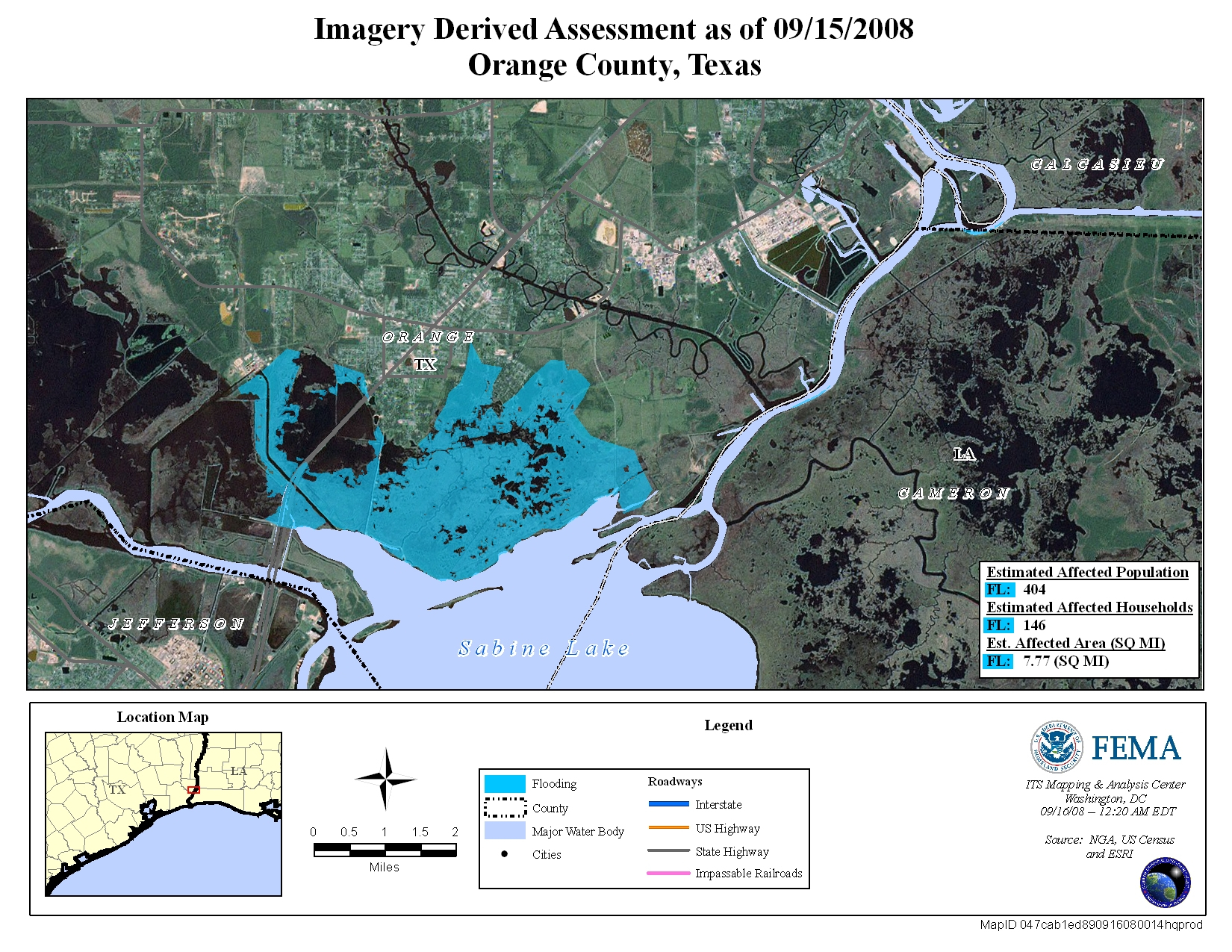 Disaster Relief Operation Map Archives - Orange County Texas Flood Zone Map