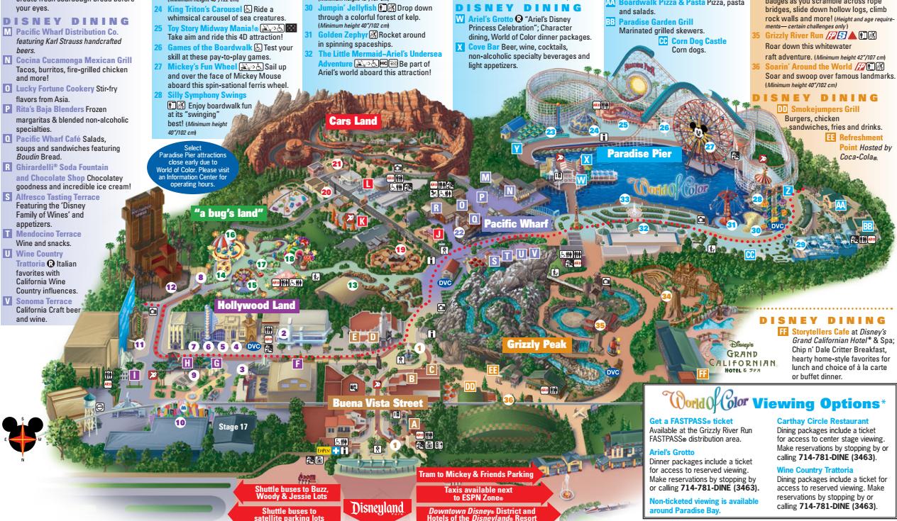 Disney California Adventure Map California Site Image With Disney - California Adventure Map 2017