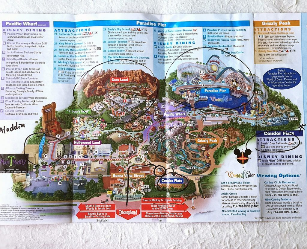 Disney California Adventure Map Pdf - Klipy - California Adventure Map 2017 Pdf