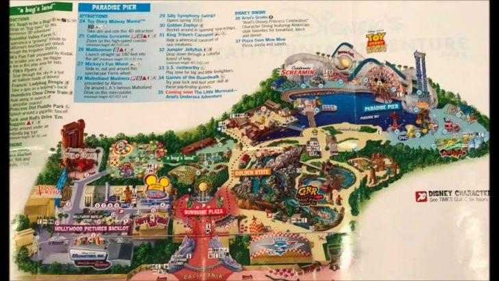 California Adventure Map 2017