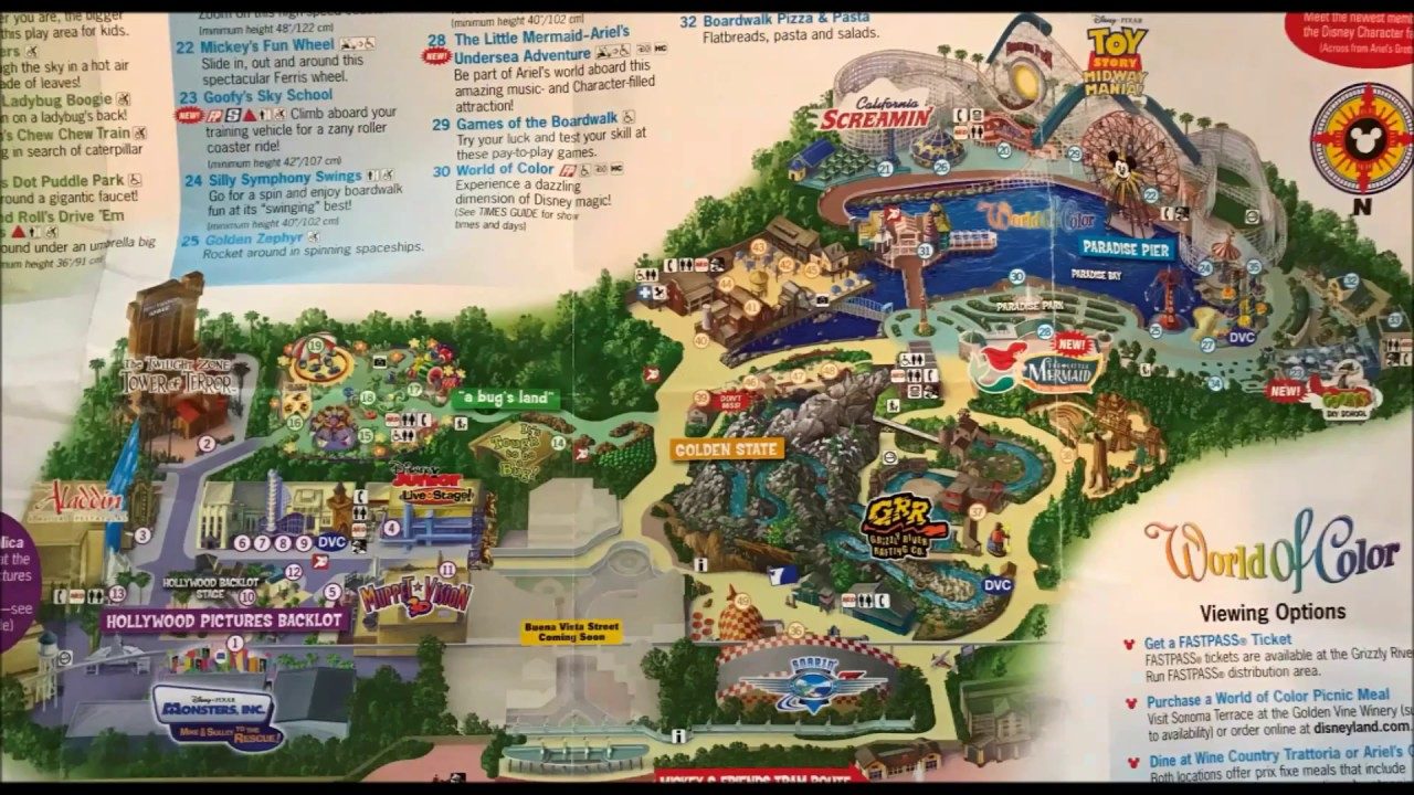 Disney California Adventure Maps Over The Years #2 See Video #3 Its - California Adventure Map 2017