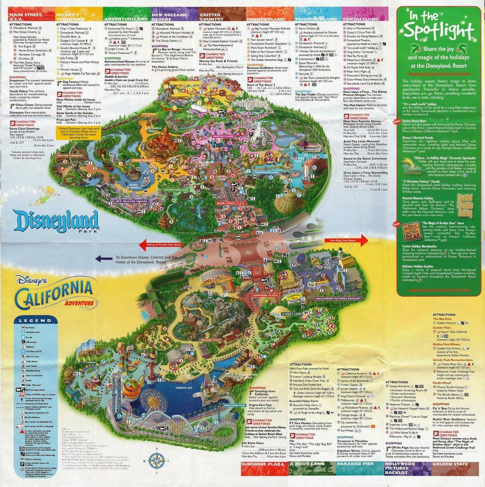 Disney California Adventure Park Map Outline California Attractions - California Adventure Map