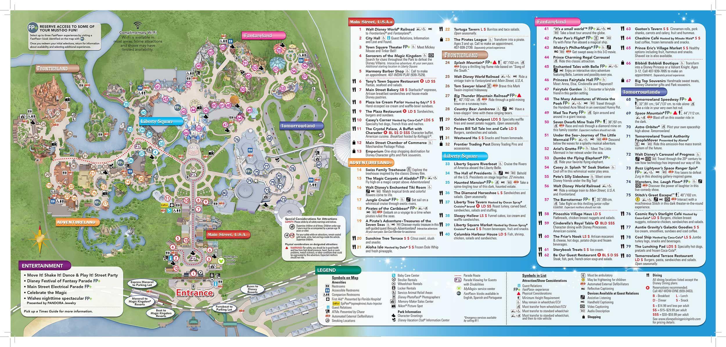 Disney-Magic-Kingdom-Map In 2019 | Virtual Magic Kingdom | Magic - Map Of Magic Kingdom Orlando Florida