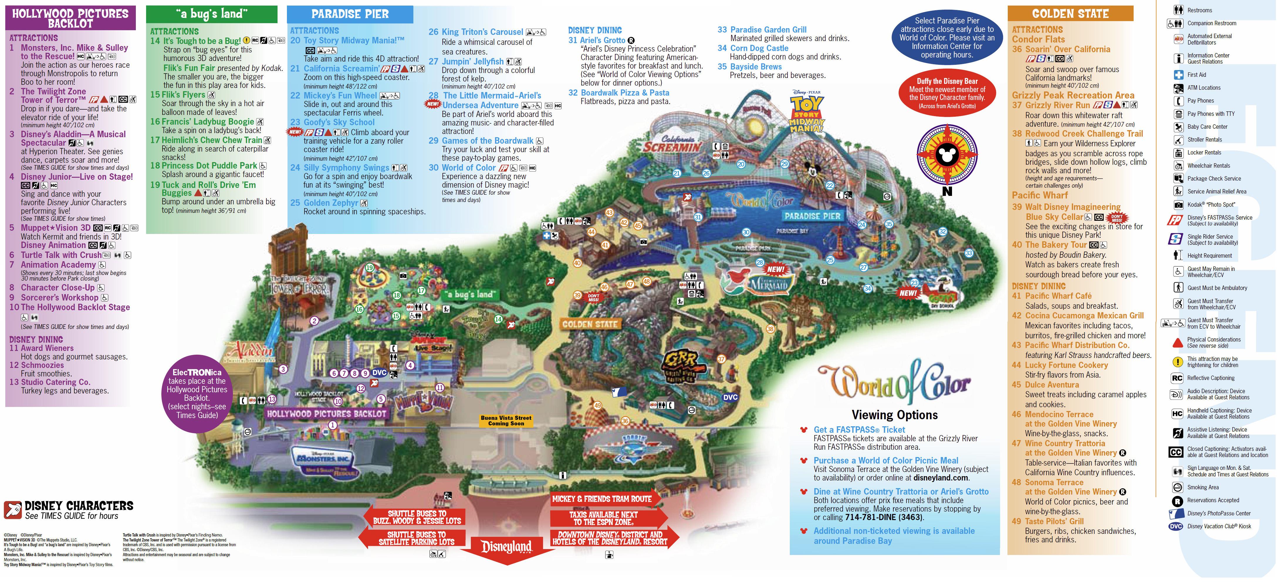 Disney Map Map Of California Springs Downtown Disney California Map - Disney California Map