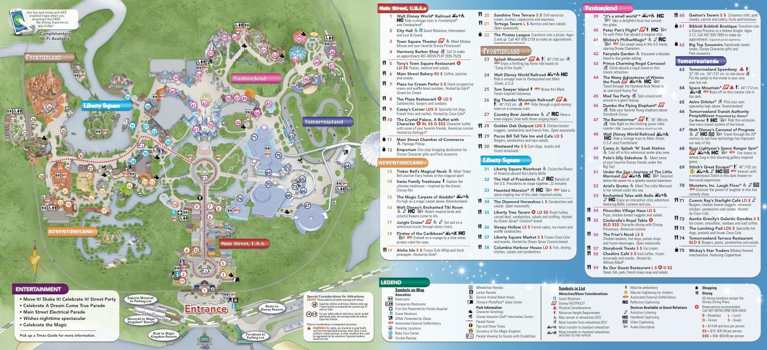 Disney Park Guide Maps Get A Makeover - New Design Aligns With - Map Of Downtown Disney Orlando Florida