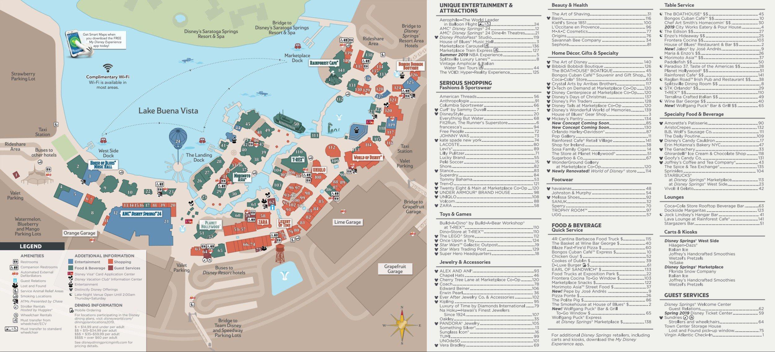 Disney Springs Map - Walt Disney World - Disney Springs Florida Map