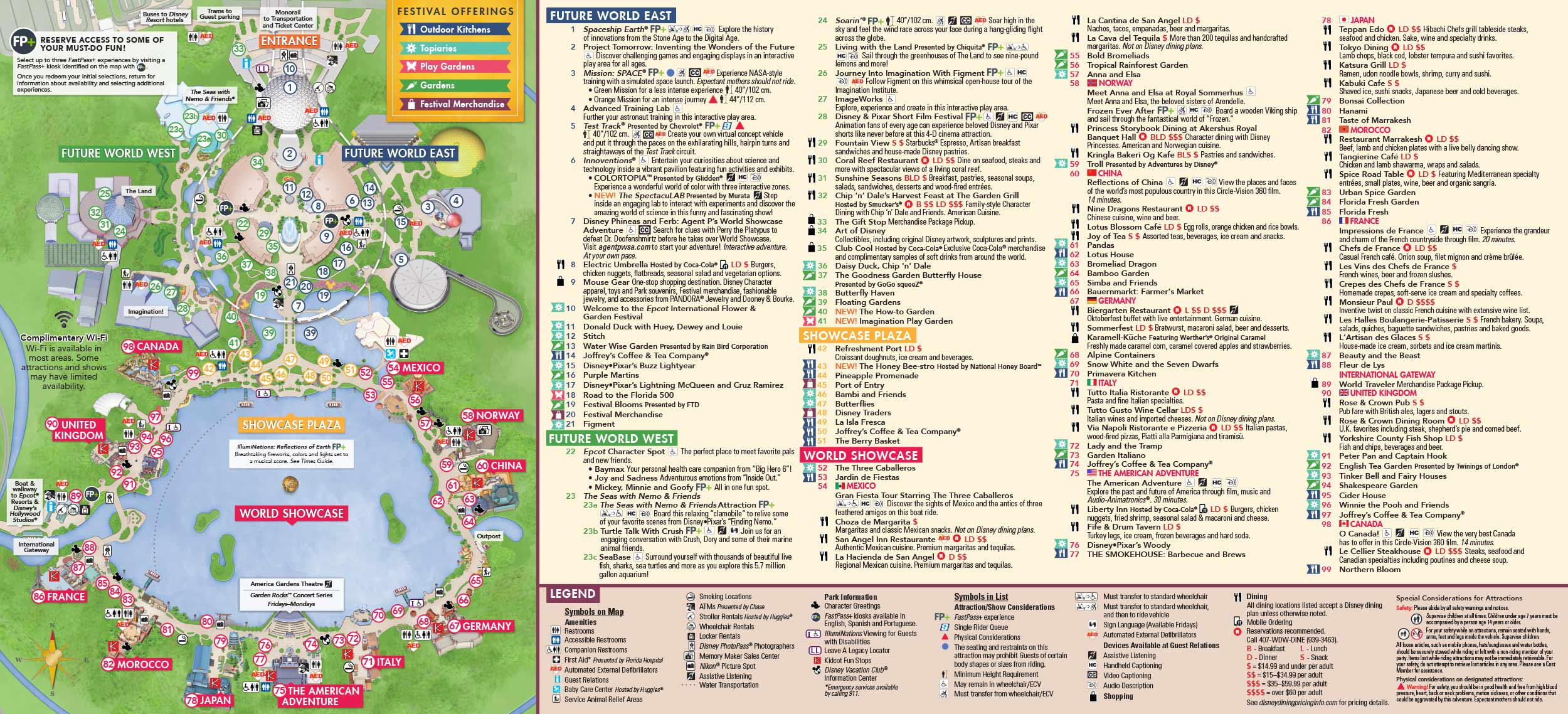 Disney World Epcot Map From Wdwinfo 2 - Ameliabd - Epcot Florida Map