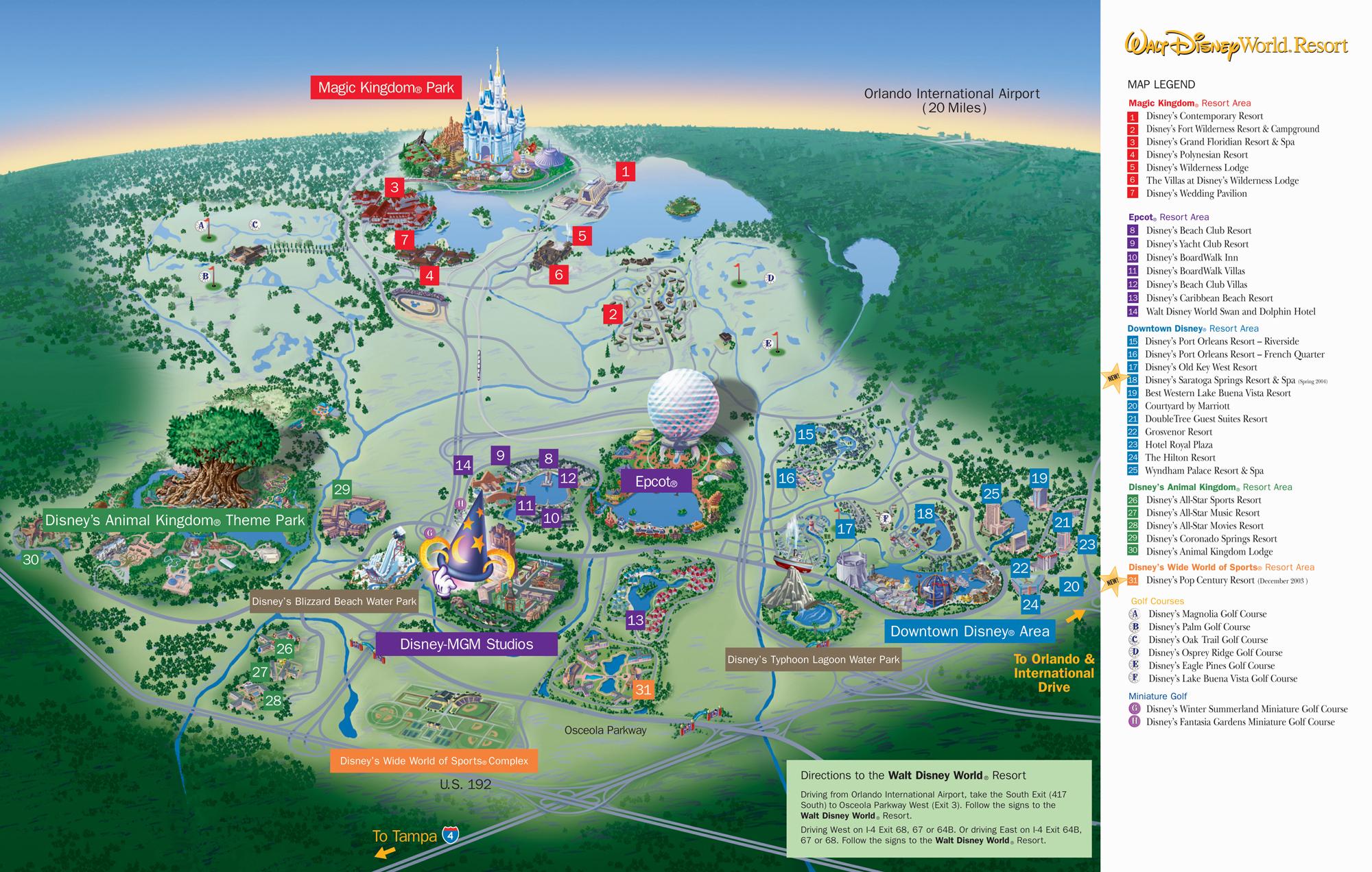 Disney World Florida Map From Mappery 4 - Ameliabd - Disney Orlando Florida Map