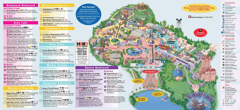 Disney World Hollywood Studios Map Lovely Printable Map Disney - Printable Disney World Maps