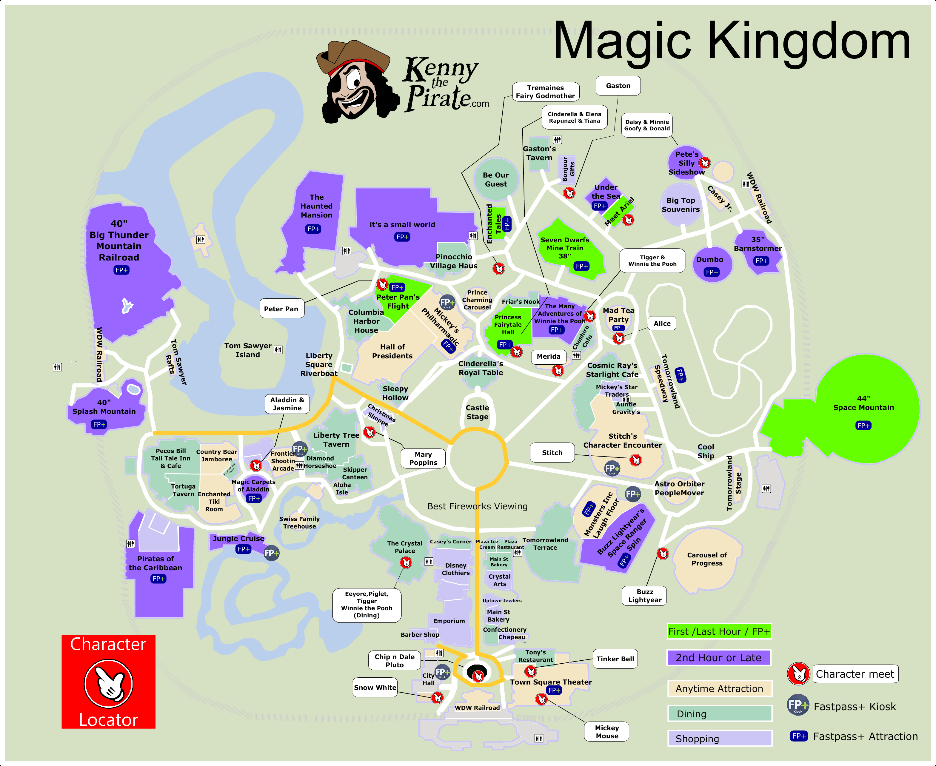 Disney World Magic Kingdom Map - Sportpicks - Magic Kingdom Orlando Florida Map