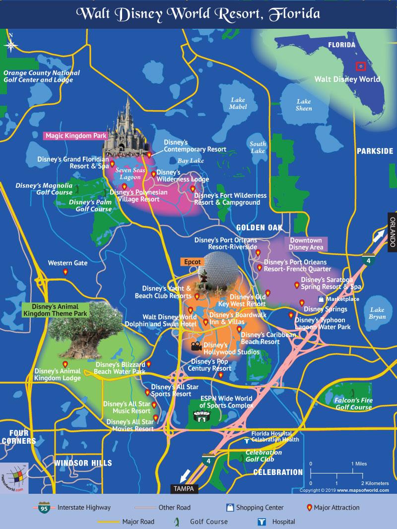 Disney World Map - Disney World Florida Map 2018