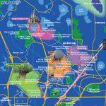 Disney World Map   Map Of Florida Showing Disney World