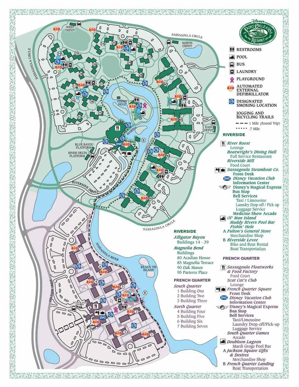 Disney World Maps For Each Resort - Us Quarter Map Printable