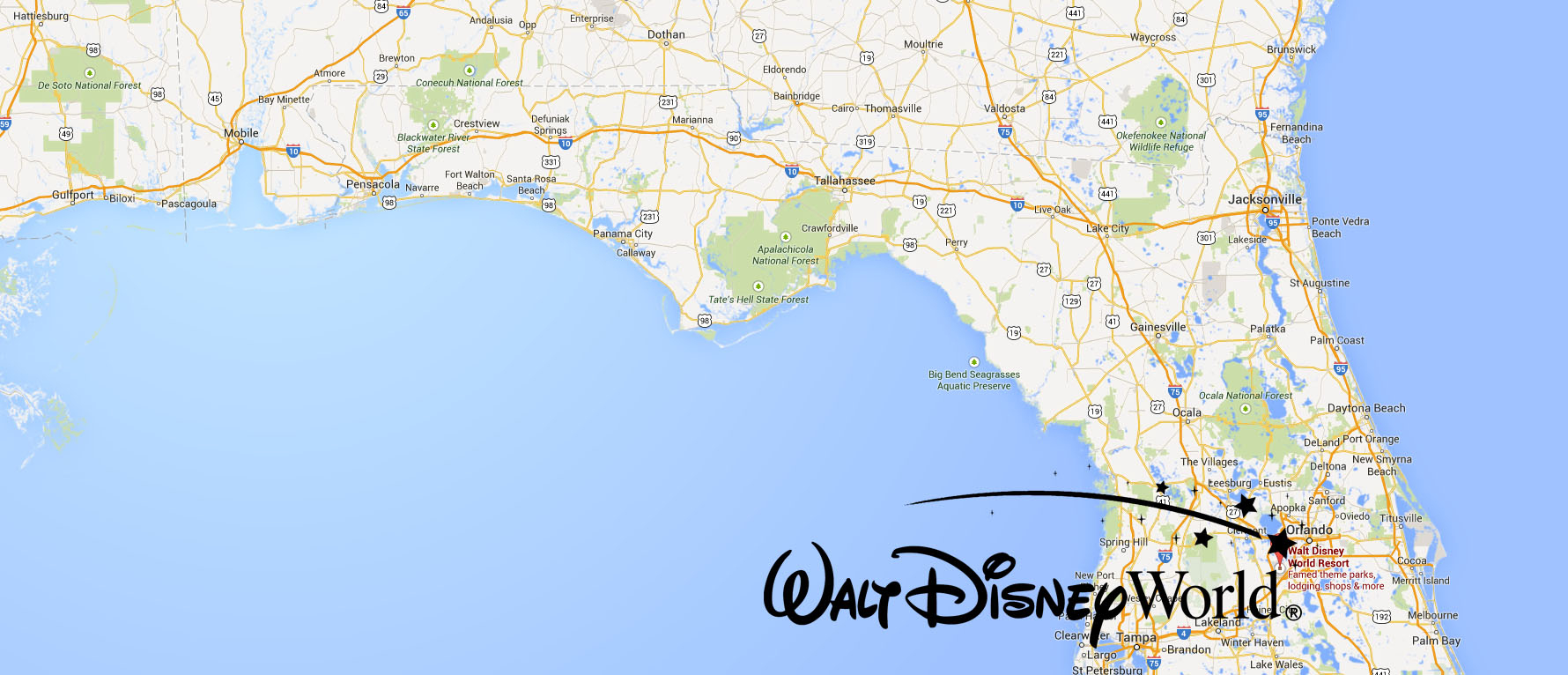 Disney World Orlando Florida Map - Map Of Florida Showing Disney World