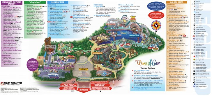 Disneyland California Map
