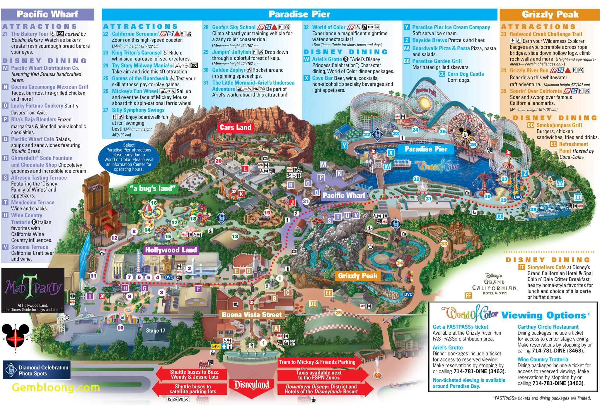Disneyland California Map From Etiforum 5 - Judecelestin2010 - Disneyland Map 2018 California