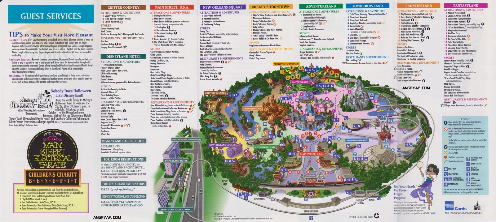 Disneyland Guide Map From Map California Disney World California Map - Disney World California Map