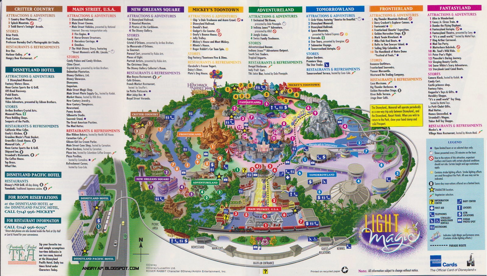 Disneyland Guide Map From Map Of California Springs Printable Map Of - Printable Disney Maps