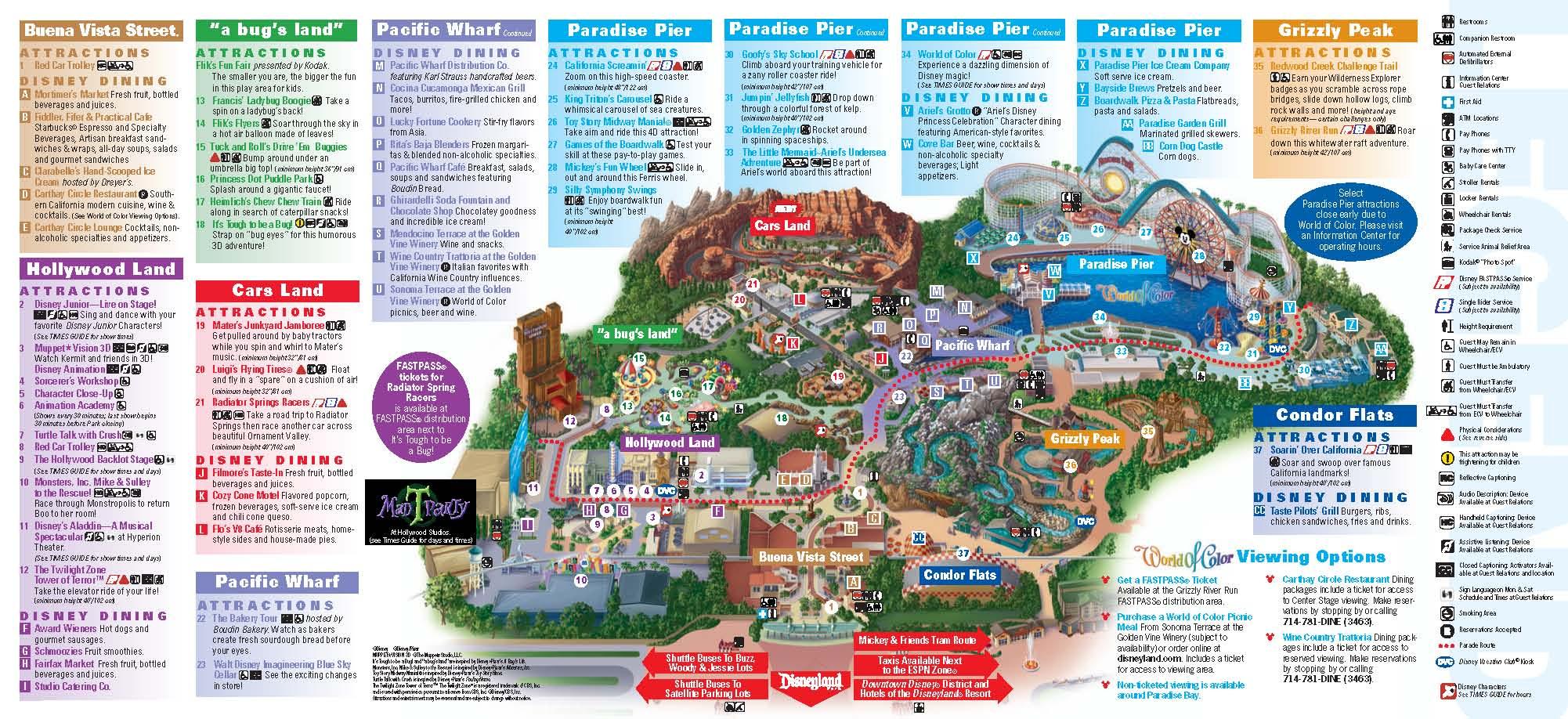 Disneyland Inside Out | Disneyland Park Information | Maps - Disney California Map
