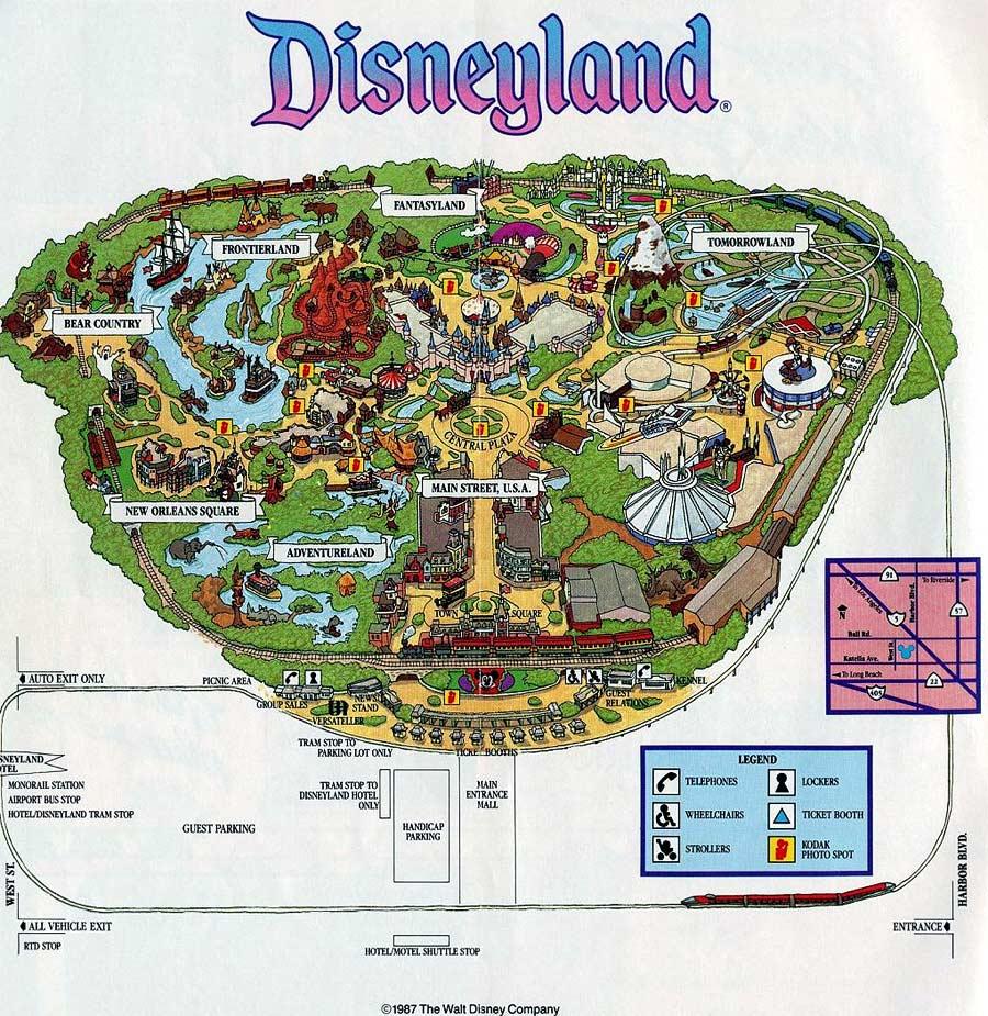 Disneyland Map California Map With Cities Disneyland Park Map - Disneyland Map 2018 California