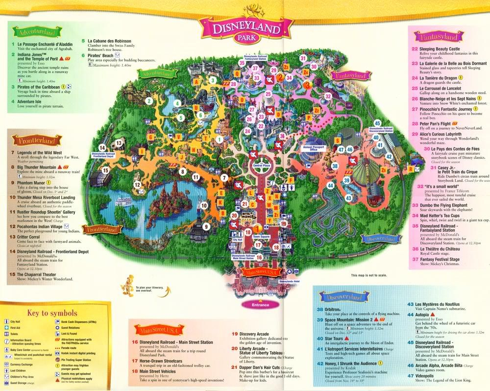 Disneyland Paris Map In English | Disney | Inspiration Pour Les - Printable Disneyland Paris Map 2018