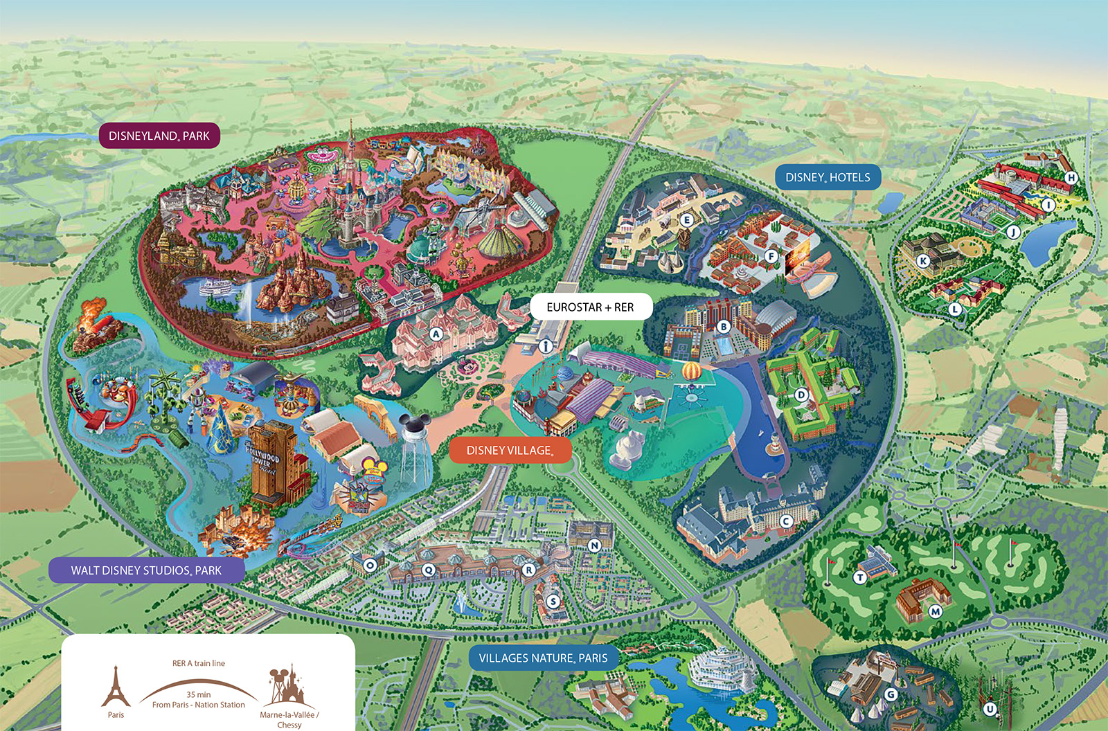 Disneyland Paris Map - Printable Disneyland Paris Map 2018