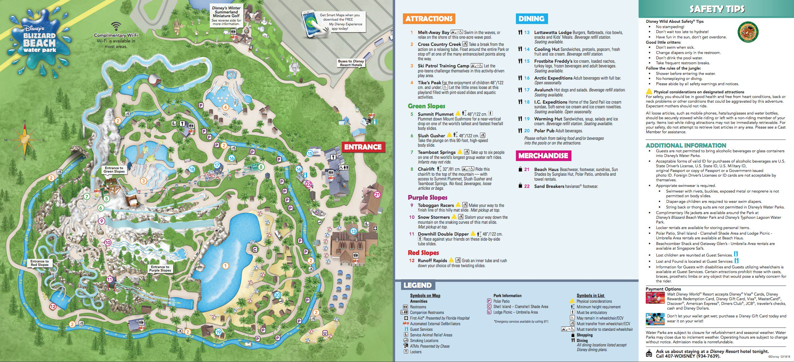 Disney's Blizzard Beach Water Park Map - Printable Disney World Maps 2017
