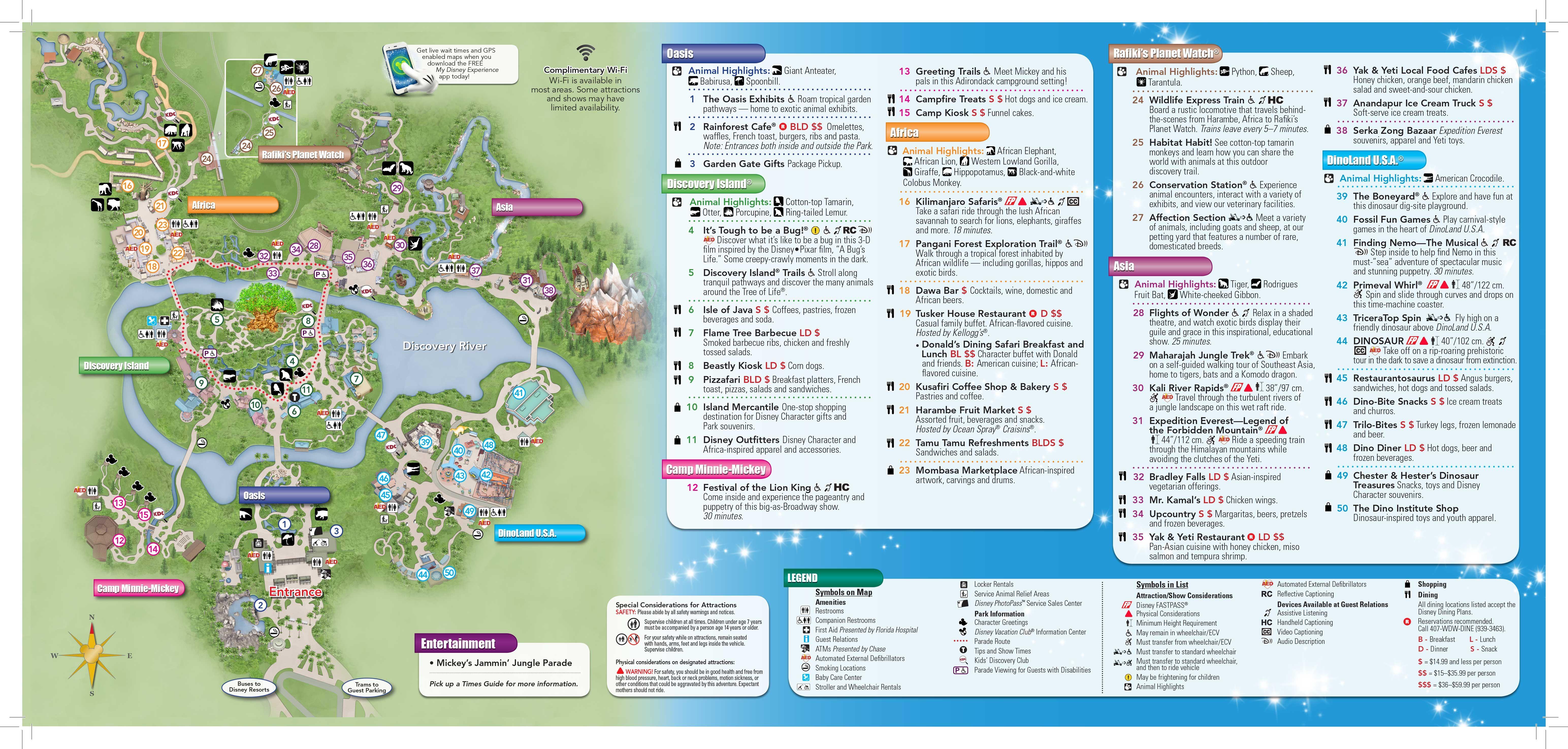 Disneyworld's #animalkingdom New 2013 Map (1 Of 2) Open Map In New - Animal Kingdom Florida Map