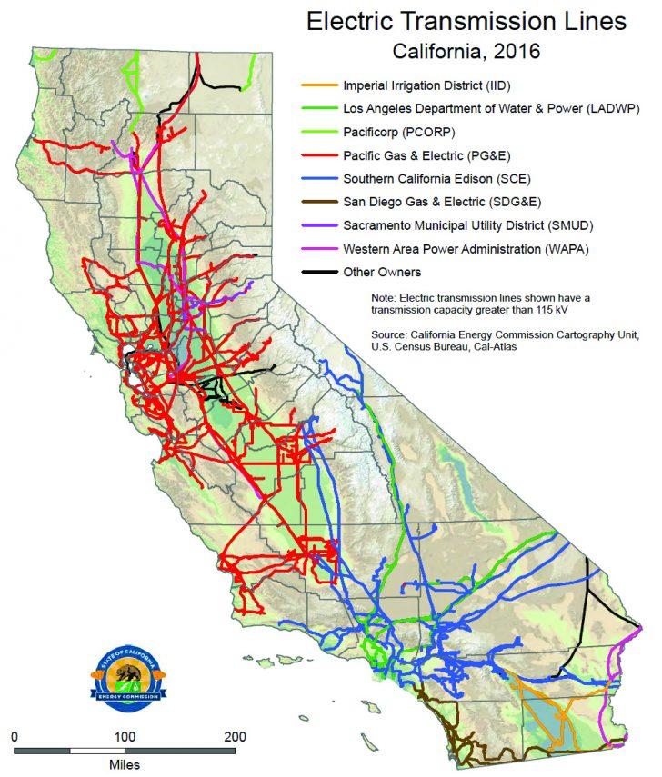 California Utility Map