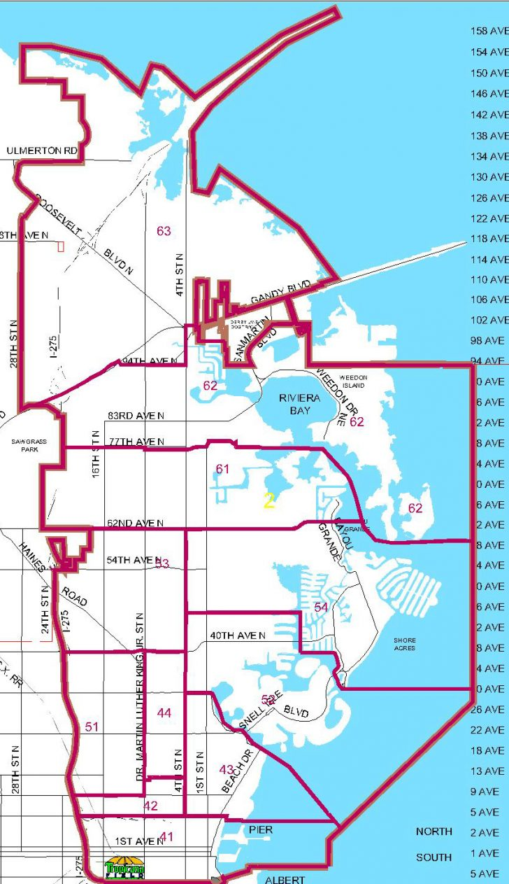 Map Of St Petersburg Florida Area