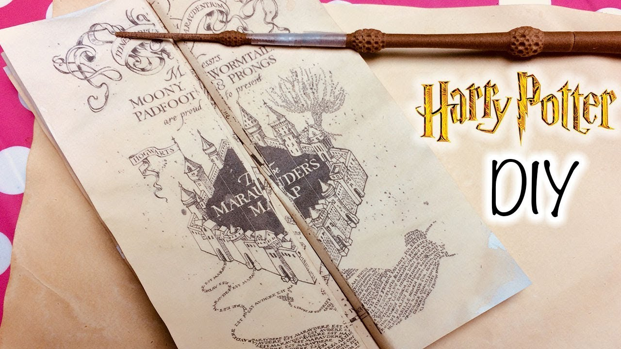 Diy Harry Potter Marauder's Map Printable And Parchment Easy Diy - Printable Map Paper
