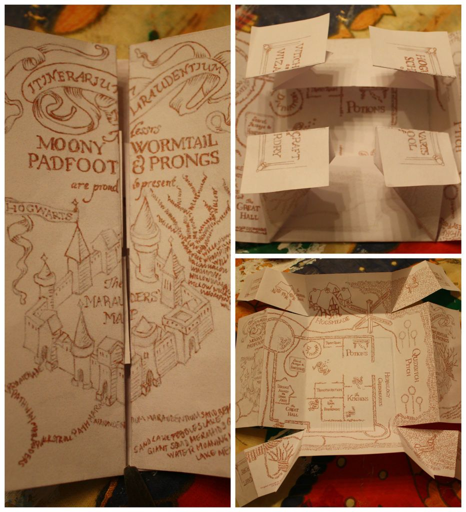 Diy: The Marauder's Map (This Is So Much Better Than The Other Diy - Marauders Map Printable