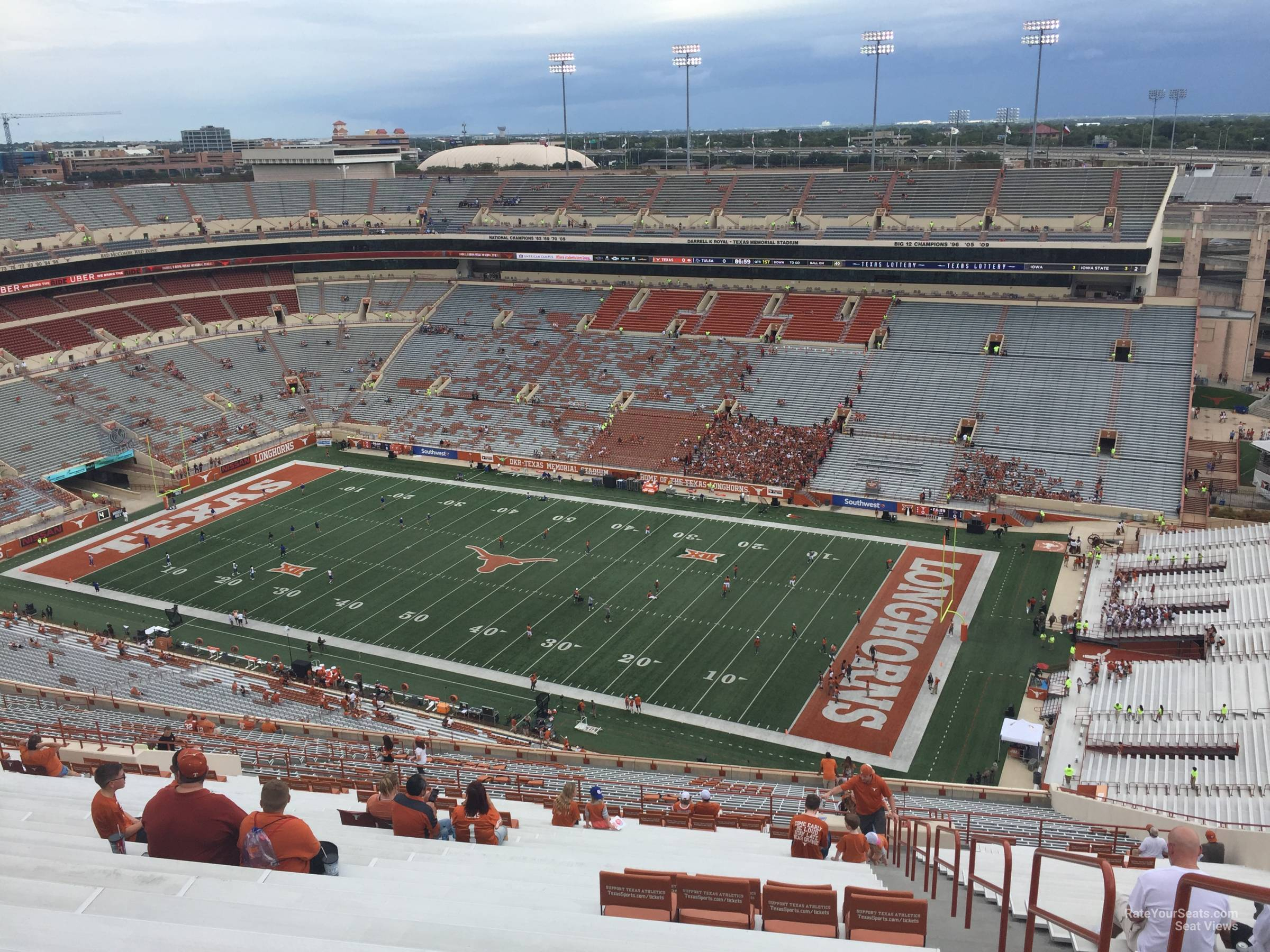 Dkr-Texas Memorial Stadium Section 101 - Rateyourseats - Texas Longhorn Stadium Seating Map