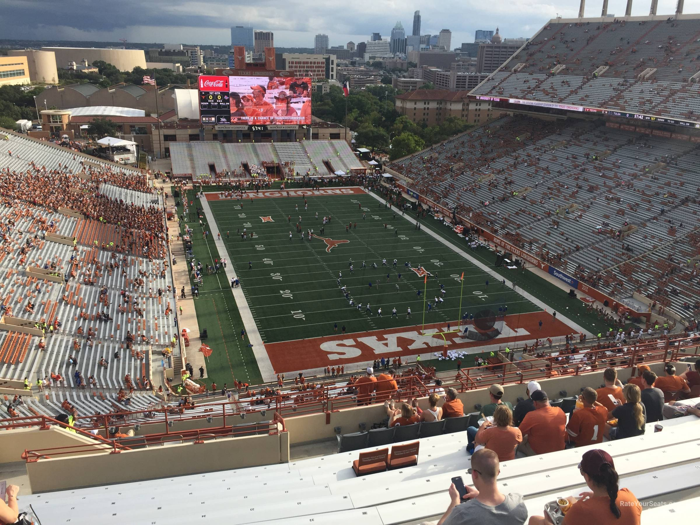 Dkr-Texas Memorial Stadium Section 117 - Rateyourseats - Texas Longhorn Stadium Seating Map