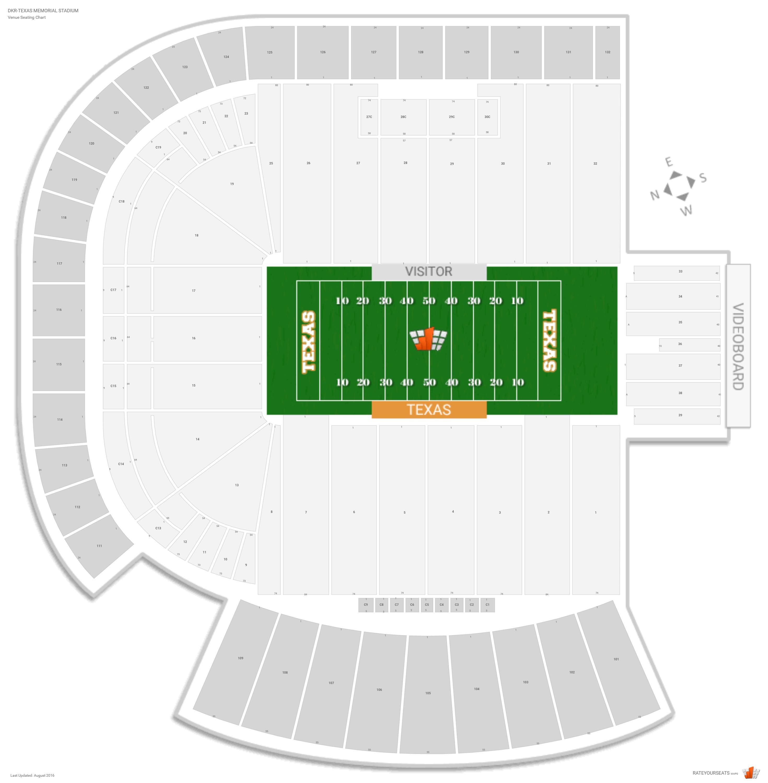 Dkr-Texas Memorial Stadium (Texas) Seating Guide - Rateyourseats - University Of Texas Stadium Seating Map
