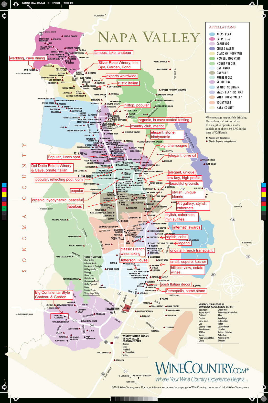 Do You Think You Could All Wineries In One Lifetime? We're Thinking - Printable Napa Winery Map
